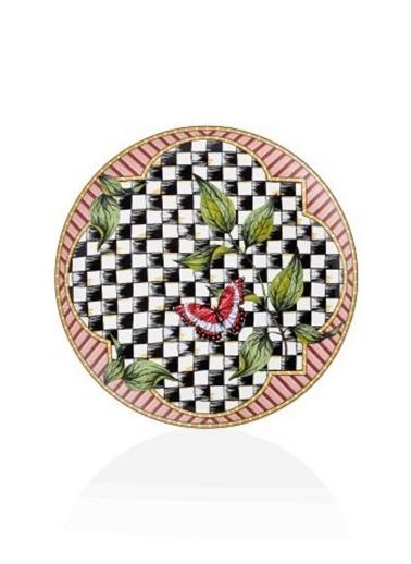 The Mia Jardin Ferforje Kek Pasta Servisi 3 Katlı - 26 cm Renkli